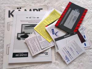 Today's Decluttered Item A bunch of old warranties and manuals.